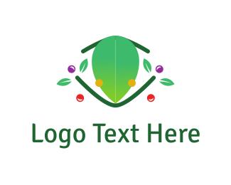 Amphibian - Frog & Flowers logo design