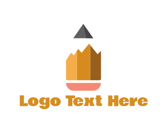 Draw - Pencil Peaks logo design