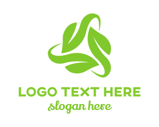 Cycling - Leaf Triangle logo design