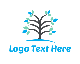 Blossom - Blue Tree logo design
