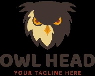 Attack - Owl Head logo design