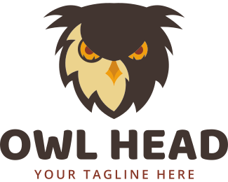 Aggressive - Owl Head logo design