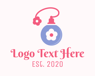 Perfume - Flower Fragance logo design