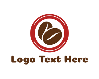 Espresso - Coffee Bean Circle logo design