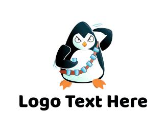 Combat - Penguin Soldier logo design