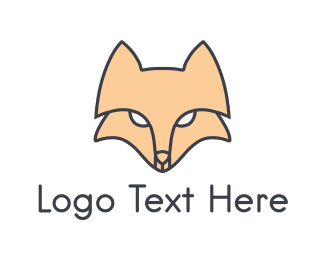 Mask - Fox Face logo design