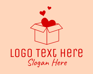 Gift - Love Box logo design