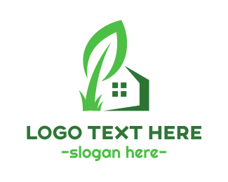 Recycle - Giant Leaf House logo design