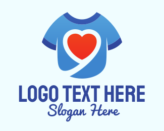 Shirt - Heart Shirt logo design