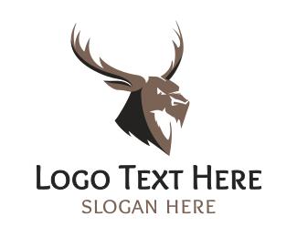 Hunt - Angry Elk logo design