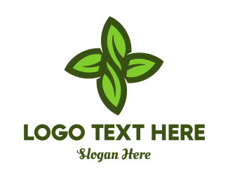 Foliage - Green Leaves Cross logo design