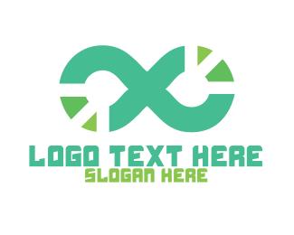 Goggles - Tech Loop logo design