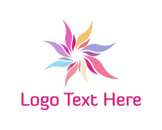 Wellness - Colorful Flower logo design