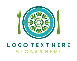 Salad - Green Restaurant logo design