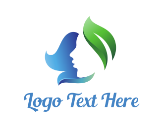 Massage - Nature Leaf Lady logo design