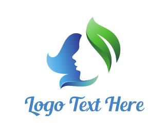 Beautician - Nature Leaf Lady logo design