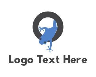 Toad - Tropical Blue Frog logo design