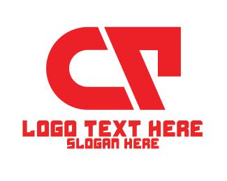 Team Emblem - Red Abstract CT logo design
