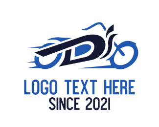 Motorcycle - Motorcycle Letter D logo design