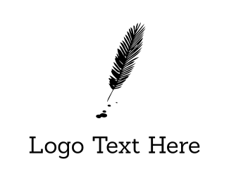 Quill - Black Feather logo design