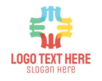 Diversity - Colorful Cross logo design