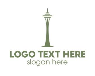 Landmark - Space Needle logo design