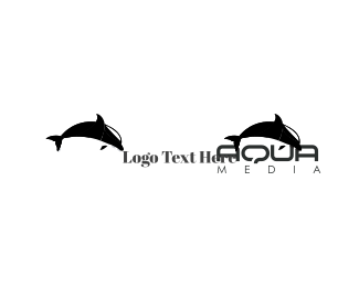 Swim - Black Dolphin logo design