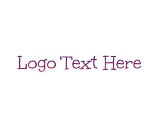 Handwriting - Purple Gradient Handwriting logo design