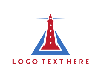 Lighthouse - Red Lighthouse logo design