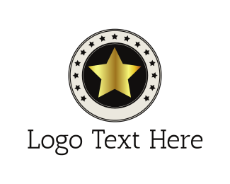 Constellation - Golden Star logo design