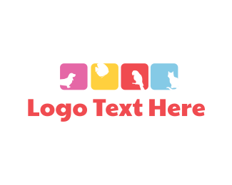 Animal - Colorful Animals logo design