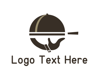Gourmet - Brown Food Tray logo design