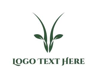 Horns - Antelope Leaf logo design