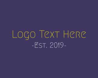 Crazy - Funny & Thin logo design