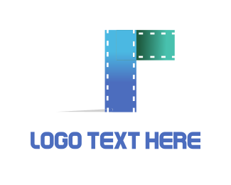 Theater - Blue Filmstrip logo design