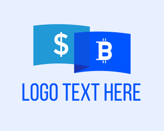 Cryptocurrency - Bitcoin Dollar logo design