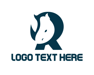 Strong - Rhino letter R logo design