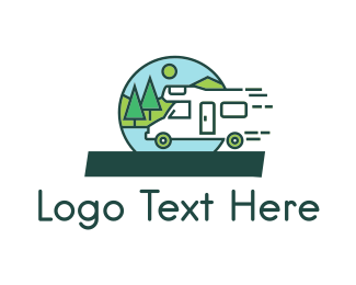 Exploration - Fast Camper logo design