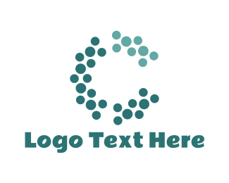 Dots - Abstract Letter C logo design