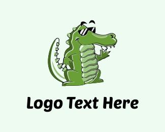 Mascot - Cool Croc logo design