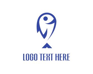 Balloon - Happy Fish logo design