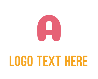 Orange And Pink - Friendly Bold Pink Letter A logo design