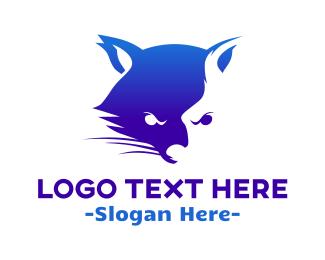 Angry - Aggressive Raccoon logo design