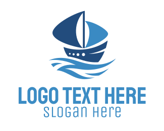 Seaman - Blue Ship logo design