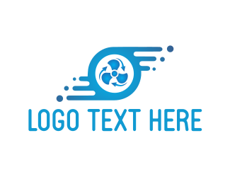 Turbine - Blue Fan logo design