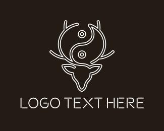 Asia - Yin Yang Deer logo design