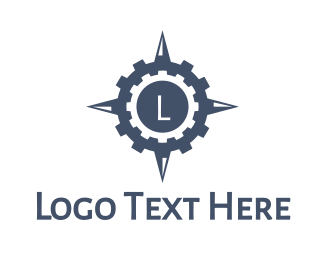 Gprs - Gear Compass logo design