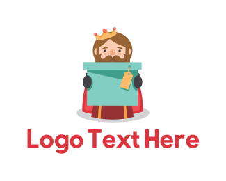 Gift - King Box logo design