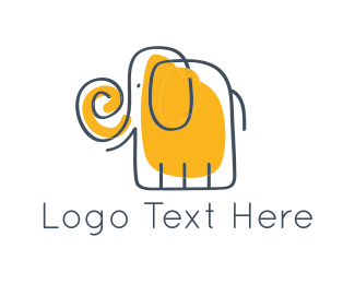 Yellow - Yellow Elephant logo design