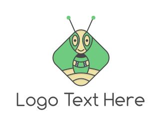 Ant - Extraterrestrial Robot Ant logo design